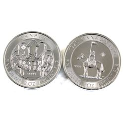 2020 Canada $10 RCMP & Kraken 2oz. .9999 Fine Silver Coins. 2pcs (TAX Exempt)
