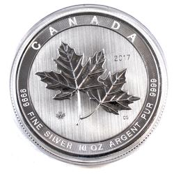 2017 Canada 10oz Magnificent Maple Leaves .9999 Fine Silver Coin in Capsule (scratched capsule) TAX