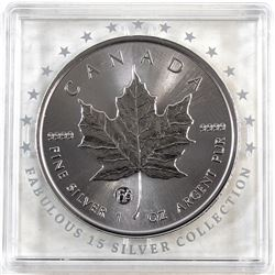 2018 Canada 1oz F15 Privy .9999 Fine Silver Maple Leaf in F15 Square Capsule (TAX Exempt).