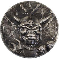 Beaver Bullion 5oz Demon Skull .999 Fine Silver Antiqued Round (TAX Exempt).