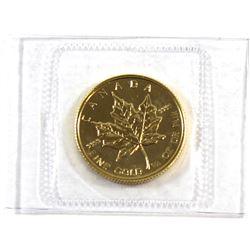 1989 Canada $10 1/4 oz. Gold Maple Leaf (Tax Exempt)