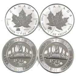 1867-2017 Canada 150 Commemorative 1oz .9999 Fine Silver Coins  (TAX Exempt)
