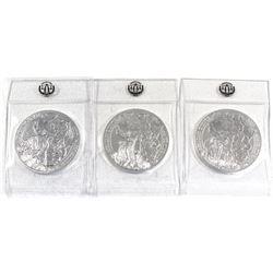 2015, 2016 & 2017 Rwanda African 1oz .999 Fine Silver Coins in Sealed Mint Plastic - 2015 Buffalo, 2
