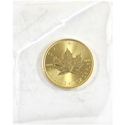 2020 Canada 1/2oz .9999 Fine Gold Maple Leaf in Sealed Mint Plastic (TAX Exempt).