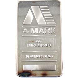 10oz A-Mark .999 Fine Silver Bar (Toned) TAX Exempt.
