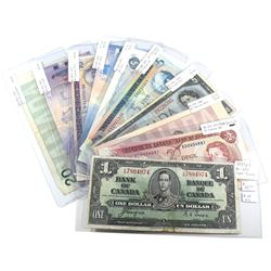 Group Lot of 1937-2005 $1 to $20 Bank of Canada Notes. You will receive 1937 $1, 1974 $2, 1986 $2, 1