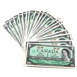1867-1967 $1 Bank of Canada No Serial Number Notes UNC. 25pcs