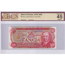 1975 $50 BC-51a, Bank of Canada, Lawson-Bouey, Two Letter, S/N: HB6210274, BCS Certified EF-45 Origi