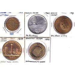 Lot of Canadian City Medallions - Rare 1859-1959 Granby, Quebec Centennial, 1960's Sudbury, Ontario