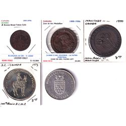 Lot of Canada Token and Medallions - J.B. Legaul & Cie 1/2 Loaf of Bread Token Pritchard & Andrews O