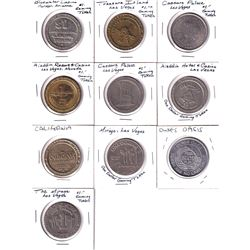 Lot of Las Vegas, Nevada Casino Gaming Tokens. You will receive all different designs except for 2x