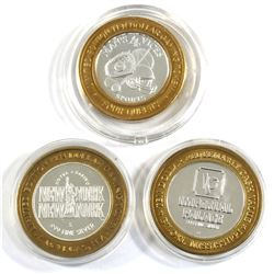 Lot of Limited Edition .999 Fine Silver Casino $10 Gaming Tokens - Imperial Palace in Biloxi, Missis
