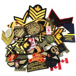 Estate Lot of Various Canadian Military Patches and Badges.