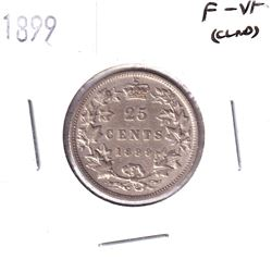 1899 Canada 25-cent F-VF (Cleaned).