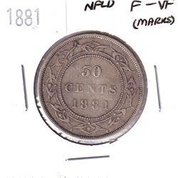 1881 Newfoundland 50-cent F-VF (Marks).