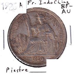 1926A French Indo-China Piastre EF-AU.