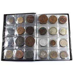 World Coin Stock Book with a Nice Variety of Mixed World Coinage. 68pcs