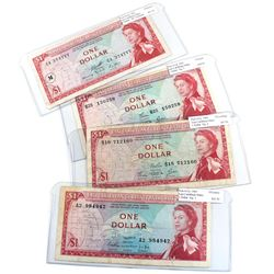 1965 East Caribbean States $1 Banknotes All Very Fine - Pick #13a, 13c, 13d & 13m (Notes contain var