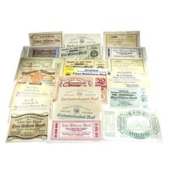 Lot of Germany Notgeld Banknotes. You will receive all different notes. 21pcs