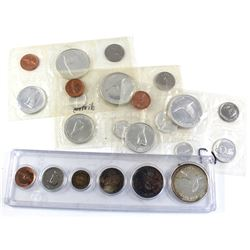 4x 1967 Canada 6-coin Year Sets - 3x Proof Like Sets & 1x Set in Hard Plastic Holder. The coins in t