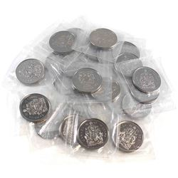 25x 2003WP Canada New Effigy 50-cent Proof-like in Sealed Mint Plastic. 25pcs