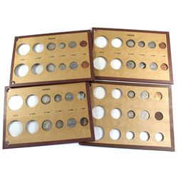 1929-1960 Canada 1-cent, 5-cent, 10-cent & 25-cent in Cardboard Holders - 1929, 1930, 1947, 1955, 19