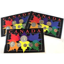 1967 & 1998 Canada Year Sets in colorful display cards. You will receive 1x 1967 & 2x 1998 Year Set
