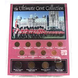 The Morgan Mint Canada The Ultimate Cent Collection 13-Coin Set in Hard Plastic Casing. Features all