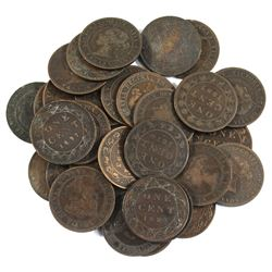 Lot of Mixed Canadian Victorian Large Cents. 30pcs
