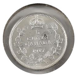 5-cent Silver 1917 UNC+ (MS-62) light scratch on obverse.