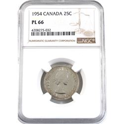 1954 Canada 25-cent NGC Certified PL-66.
