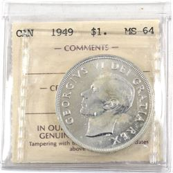 $1 1949 ICCS Certified MS-64 (spots)
