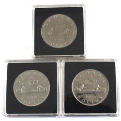 Set of 3x 1968 Nickel Dollar Varieties. Lot includes a Regular Island, No Island and An Extra Water