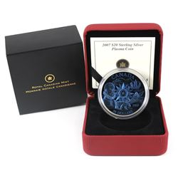 2007 Canada $20 Plasma International Polar Year Sterling Silver Coin.