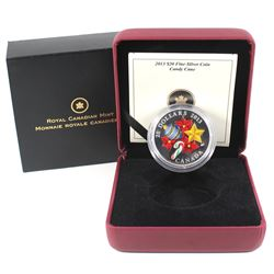 2013 Canada $20 Holiday Candy Cane Glass Fine Silver Coin (TAX Exempt).