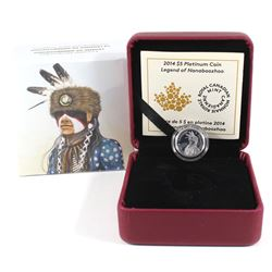 2014 Canada $5 Portrait of Nanaboozhoo Fine Platinum Coin (TAX Exempt).