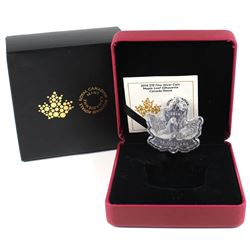 2016 $10 Canada Geese Maple Leaf Shaped Silhouette Fine Silver Coin (TAX Exempt).
