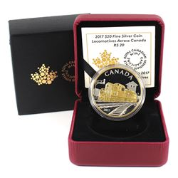 2017 $20 Locomotives Across Canada - RS 20 Fine Silver Coin (capsule lightly scratched). TAX Exempt
