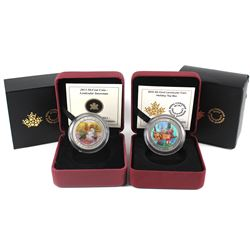 2013 & 2015 Canada 50-cent Lenticular Coins - 2013 Snowman & 2015 Holiday Toy Box (2013 capsule is s