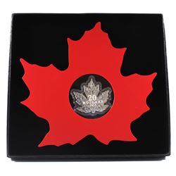 2015 $20 The Canadian Maple Leaf - Maple Leaf Shaped Fine Silver (TAX Exempt).