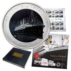 *1914-2014 Canada 50-Cents Empress of Ireland Centenary Coin and Stamp Collection.