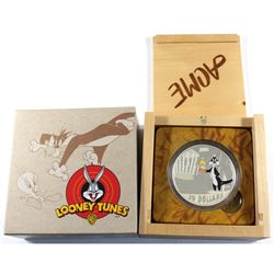 2015 Canada $30 Looney Tunes - Birds Anonymous 2oz. Fine Silver Coin (lightly toned). TAX Exempt