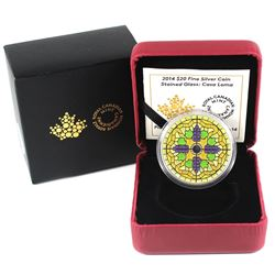 2014 Canada $20 Stained Glass - Casa Loma Fine Silver Coin (capsule lightly scratched on the back).