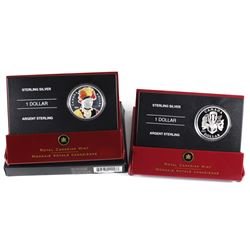 2007 Canada Celebration of the Arts & 2007 Thayendanegea Enamelled Special Edition Proof Sterling Si