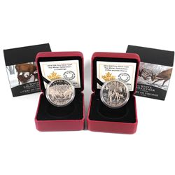 2014 Canada $20 The White-Tailed Deer Fine Silver Coins - A Doe and Her Fawns & A Challenge (coins a