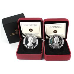 2011 Canada $15 Prince of Wales & Prince William of Wales Ultra High Relief Sterling Silver Coins (P