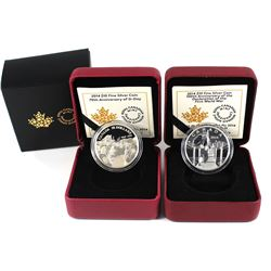 2014 Canada $10 70th Anniversary of D-Day & 2014 $10 The Mobilisation of Our Nation Fine Silver Coin