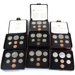 1972-1978 Canada Specimen Double Penny Sets. Some sets include COA (some coins are toned). 7pcs