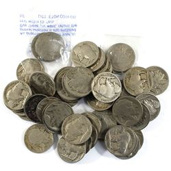 Grab Bag of 47x USA Buffalo Nickels. Most coins are average condition many are missing dates. Coins