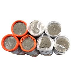 Lot of 7x Commemorative 25-cent Rolls. Lot includes: 2002 Men's Hockey, 2000 Creativity, Freedom, 20